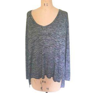 Wilfred Free space dye Split Open Back Sweater top